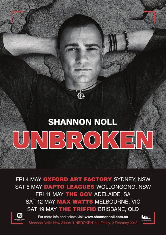 Shannon Noll Tour Poster