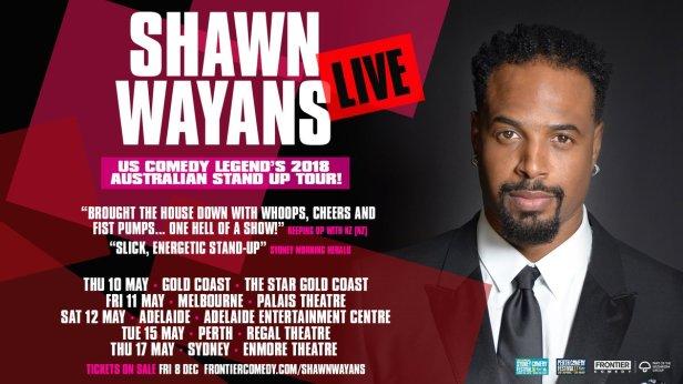 Shawn Wayans Australian Tour Poster