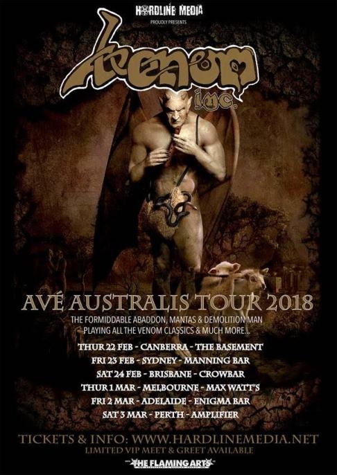 Venom Inc Tour Poster