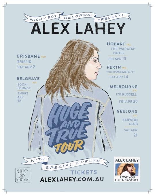 Alex Lahey Tour Poster