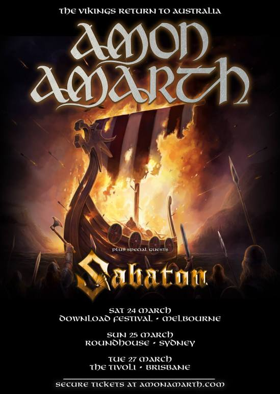 Amon Amarth Tour Poster