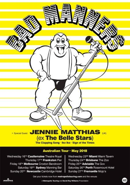 Bad Manners Tour Poster