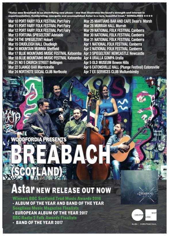 Breabach Tour Poster