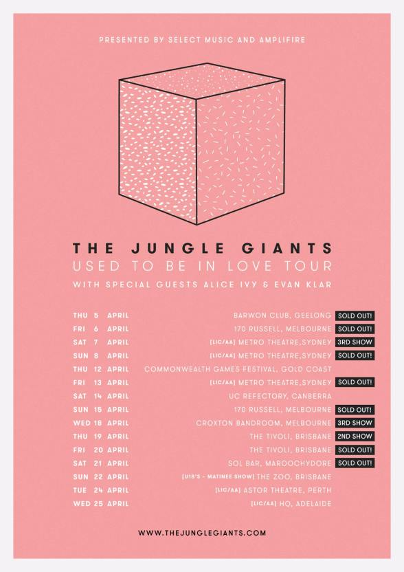 Jungle Giants 2018 Tour Poster Updated