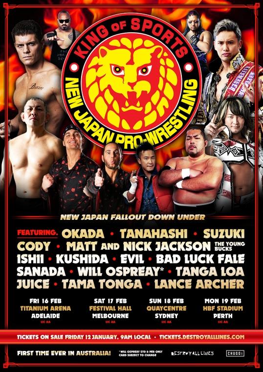 NJPW Tour Poster
