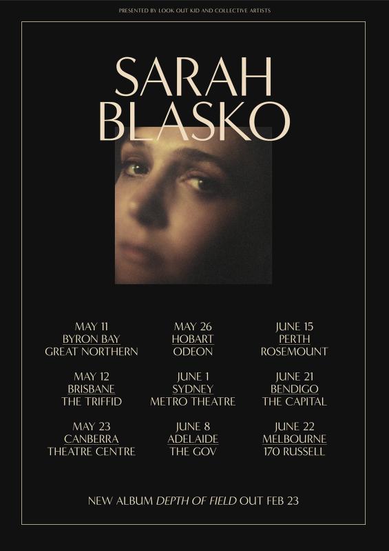 Sarah Blasko Tour Poster