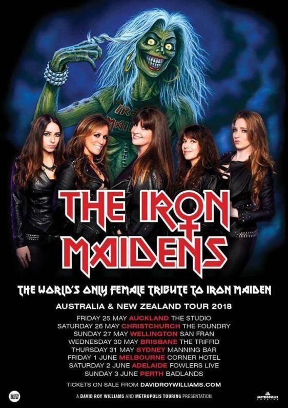 The Iron Maidens Australian Tour Poster