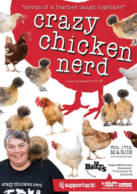 Crazy Chicken Nerd Poster