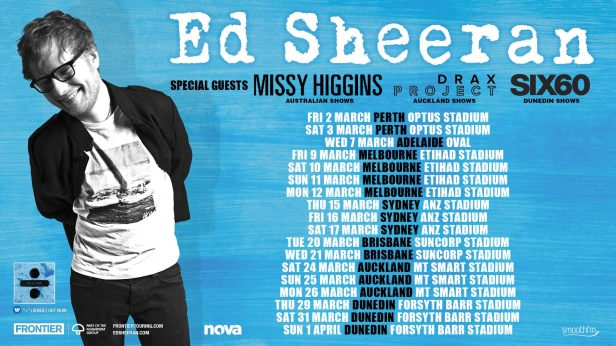 Ed Sheeran Tour Banner Updated