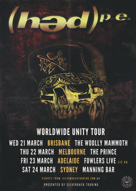 hed PE Tour Poster