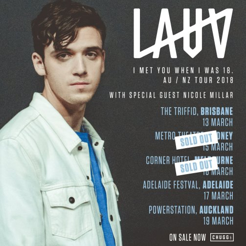 Lauv Australian Tour Poster