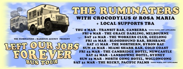 The Ruminaters Tour Dates