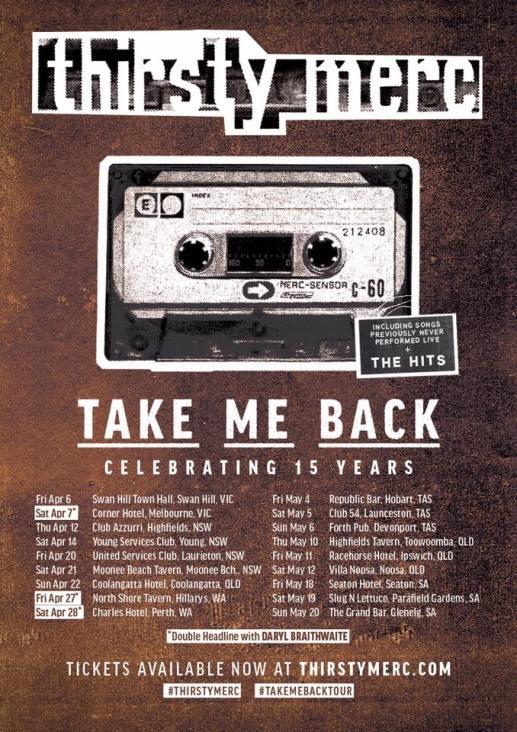 Thirsty merc Tour Poster