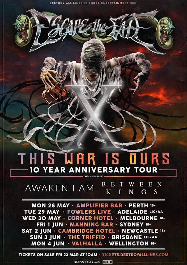 Escape The Fate Tour Poster