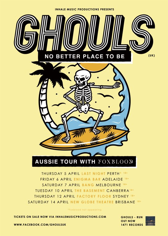 Ghouls Tour Poster