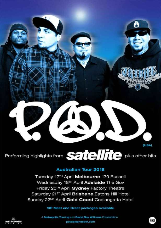 POD Australian Tour Poster