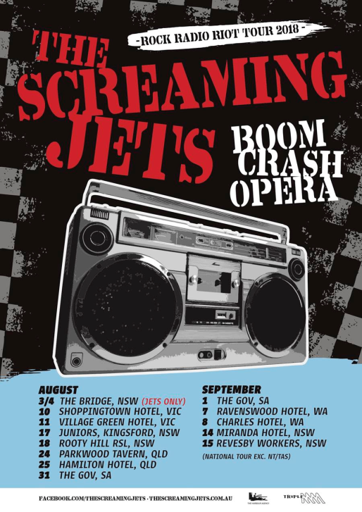 Screaming Jets Tour Poster