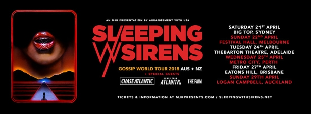 Sleeping With Sirens Tour Banner
