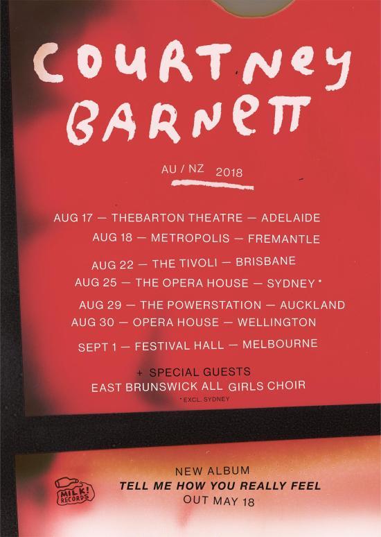 Courtney Barnett Tour Poster