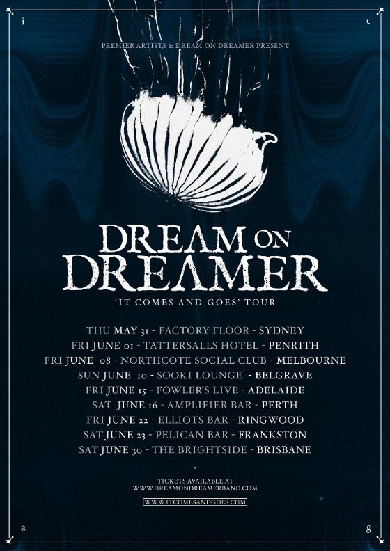 Dream On Dreamer Tour Poster