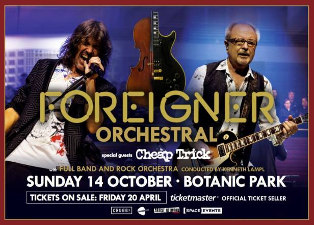 Foreigner Cheap Trick Tour Banner