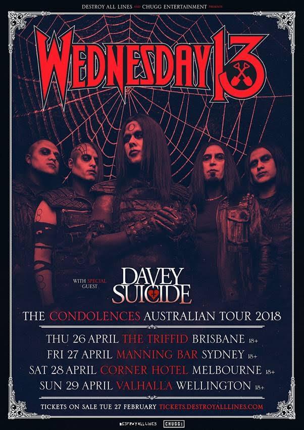 Wednesday 13 Tour Poster