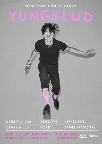 Yungblud Australian Tour Poster