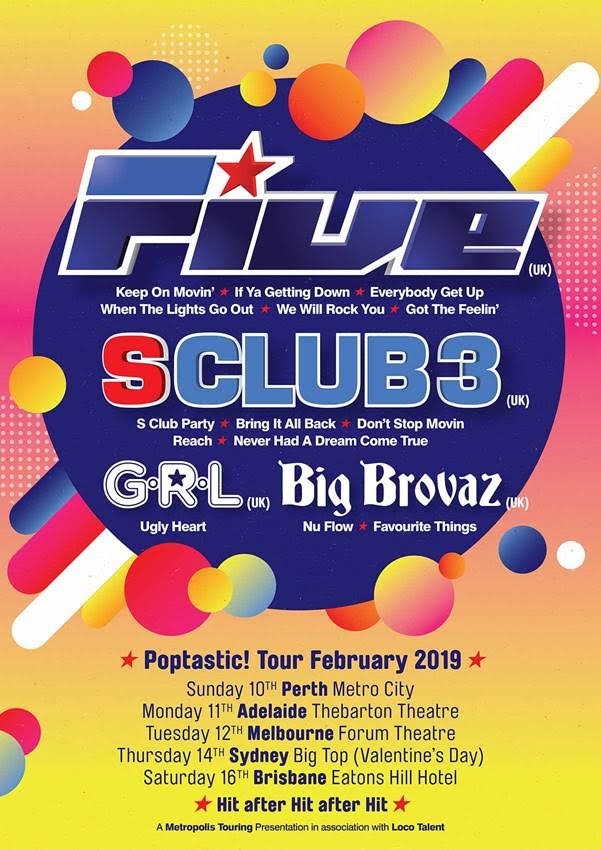 5ive Australian Tour Poster
