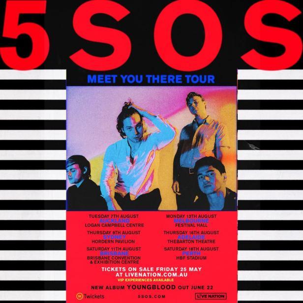 5SOS Australian Tour Poster