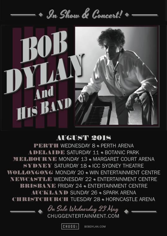 Bob Dylan Australian Tour Poster