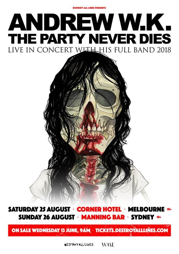 Andrew WK Tour Poster