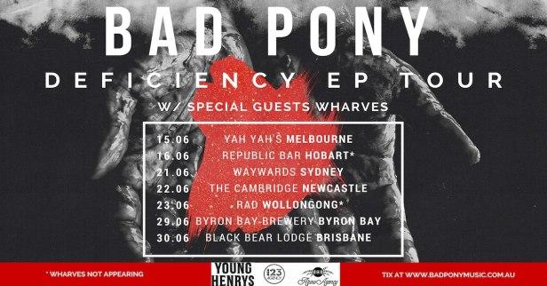Bad Pony Tour Banner
