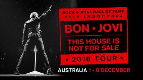 Bon Jovi Oz Tour Banner