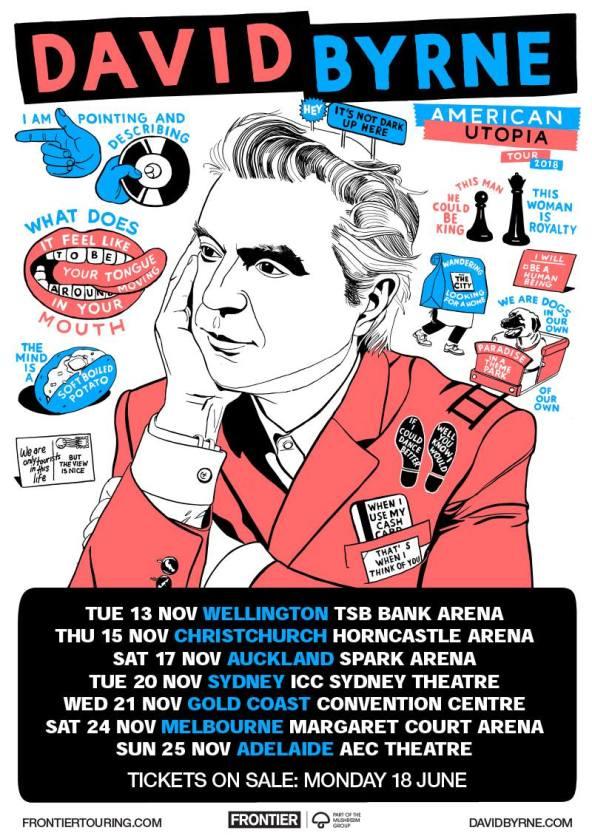 David Byrne Tour Poster