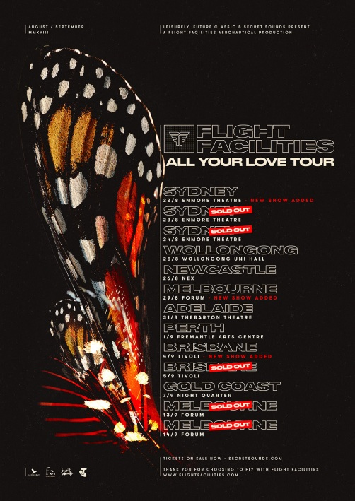 Flight Facilities Tour Poster Updated