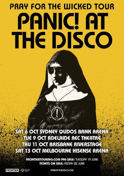 Panic At The Disco Tour Poster