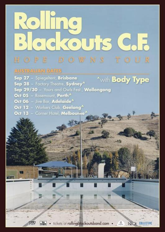 Rolling Blackouts Coast Fever Tour Poster