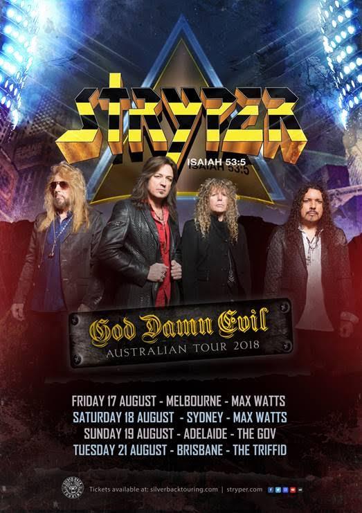 Stryper Australian Tour Poster