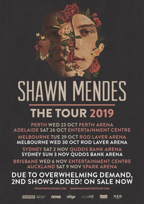 Shawn Mendes Australian Tour Poster