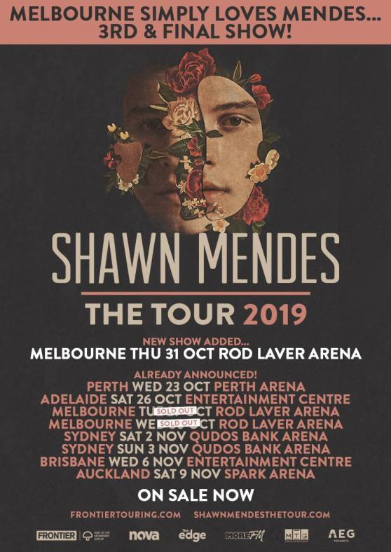 Shawn Mendes Tour Poster - Updated 2