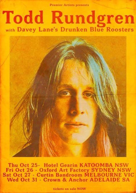 Todd Rundgren Tour Poster