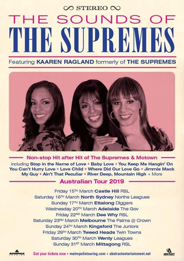 The Supremes Tour Poster