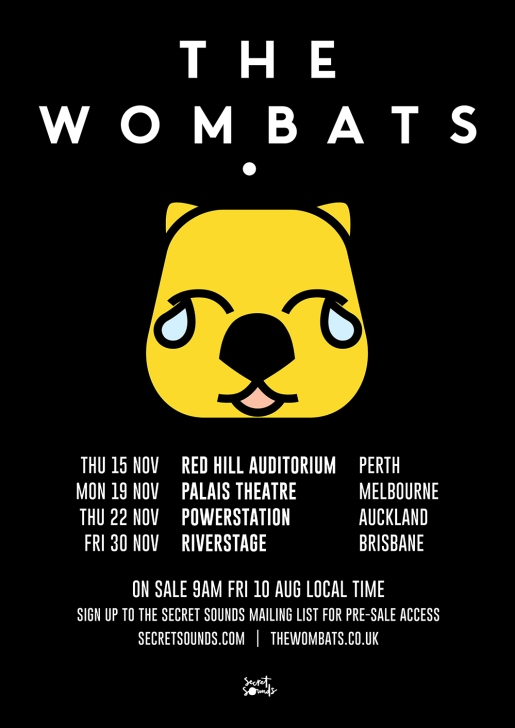 The Wombats Australian Tour Poster Nov 2018.jpg