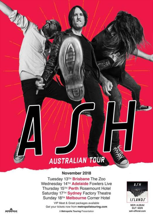 Ash 2018 Australian Tour Poster