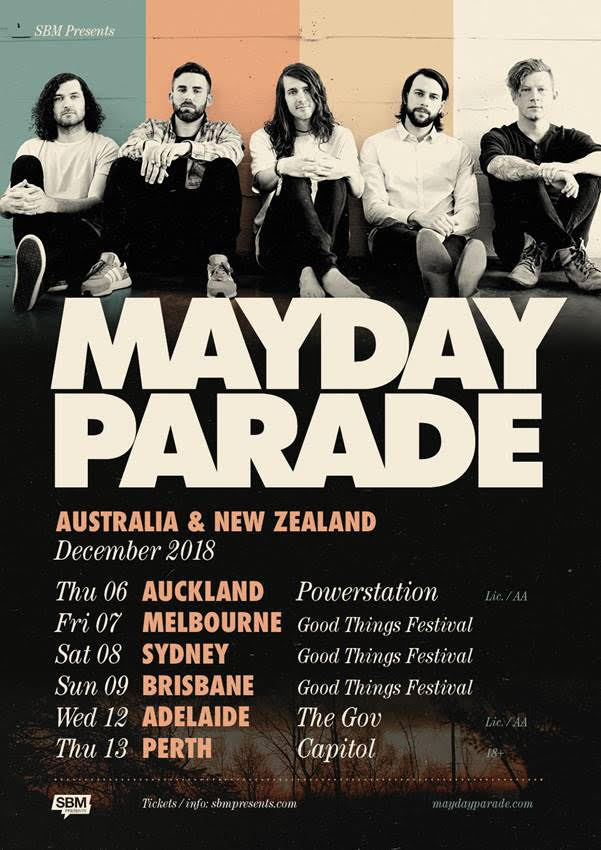 Mayday Parade Tour Poster