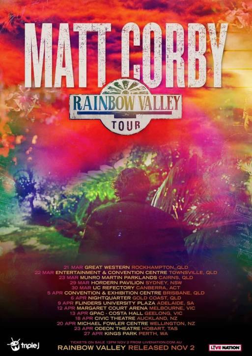 Matt Corby Tour Poster