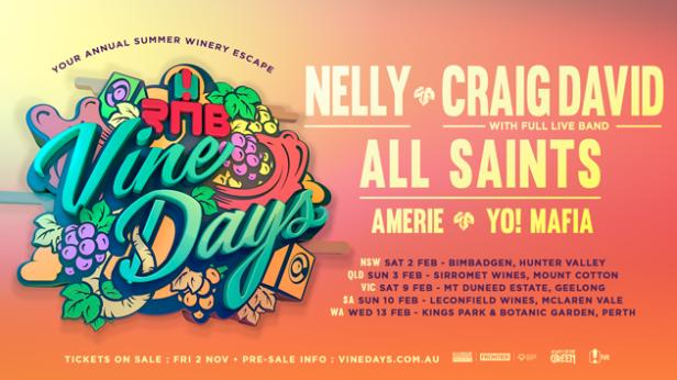 RNB Vine Days Tour Banner