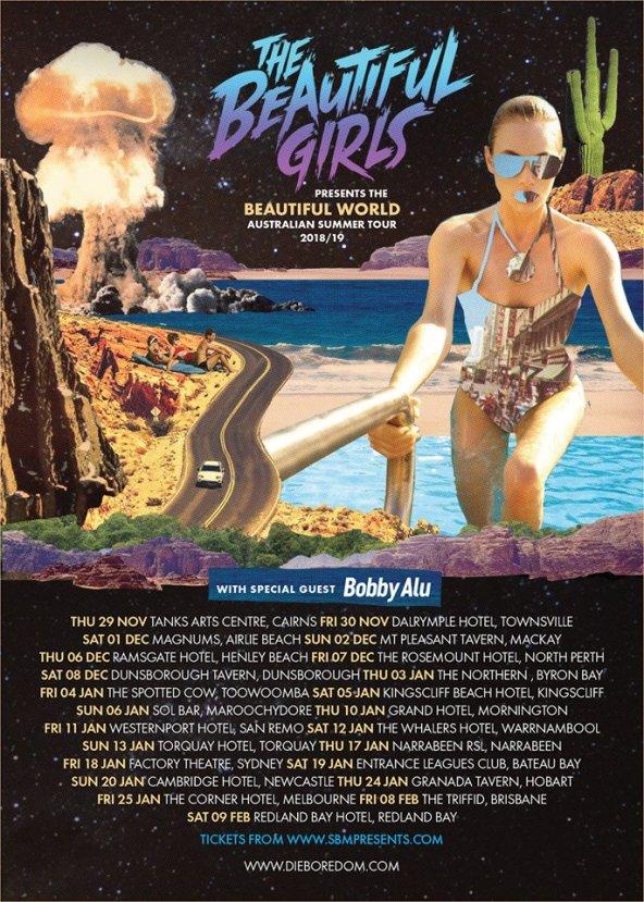 The Beautiful Girls Australian Tour Poster