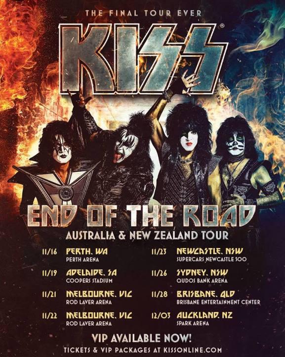 Kiss - Australian Tour Poster
