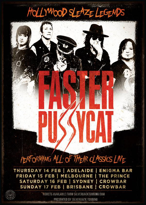 Faster Pussycat Tour Poster
